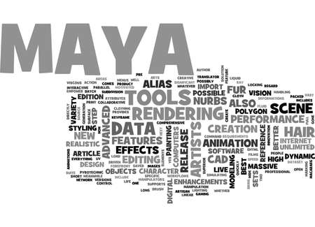 forefront: WHEN THE BEST GETS EVEN BETTER THE RELEASE OF MAYA TEXT WORD CLOUD CONCEPT Illustration