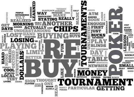 WHY I HATE POKER RE BUY TOURNAMENTS TEXT WORD CLOUD CONCEPT Ilustrace