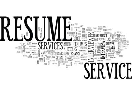 WHY INVEST ON A RESUME SERVICE TEXT WORD CLOUD CONCEPT