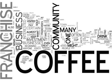 WHO WANTS A COFFEE FRANCHISE TEXT WORD CLOUD CONCEPT