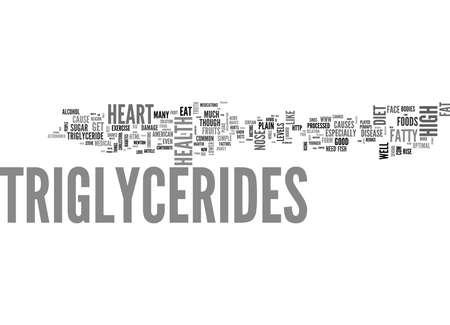 YOU ARE WHAT YOU EAT TRIGLYCERIDES AND DIET TEXT WORD CLOUD CONCEPT