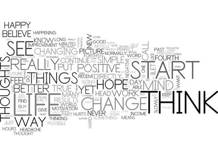 YOU ARE WHAT YOU THINK TEXT WORD CLOUD CONCEPT