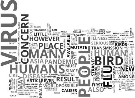WHY IS BIRD FLU OF SUCH CONCERN TEXT WORD CLOUD CONCEPT
