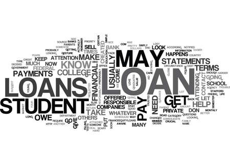 WHO YOU PAY AND HOW MUCH YOU OWE FOR STUDENT LOANS TEXT WORD CLOUD CONCEPT Imagens - 79571678