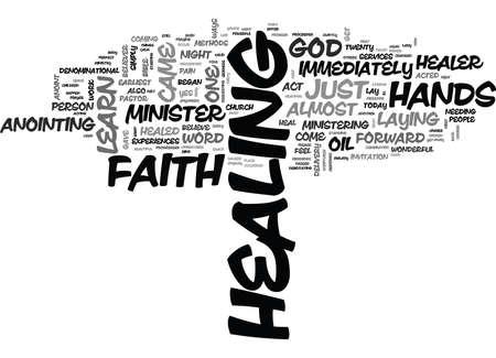 YOU CAN BE A FAITH HEALER TEXT WORD CLOUD CONCEPT