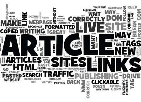 WHY IS IT NECESSARY TO KEEP TRACK OF YOUR ARTICLE BACK LINKS TEXT WORD CLOUD CONCEPT