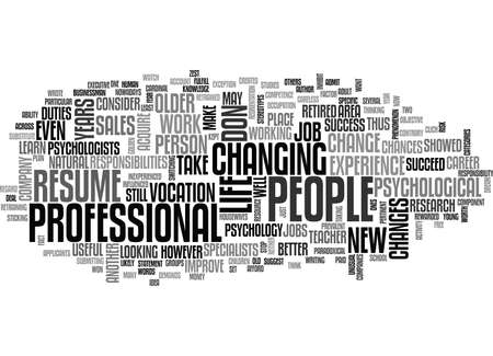 WHY IS IT USEFUL TO CHANGE JOBS TEXT WORD CLOUD CONCEPT Иллюстрация