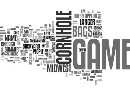 WHY IS THE MIDWEST CRAZY FOR THIS BACKYARD GAME TEXT WORD CLOUD CONCEPT