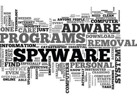 WHY IS THERE A NEED FOR A DOWNLOAD ADWARE SPYWARE REMOVAL TEXT WORD CLOUD CONCEPT