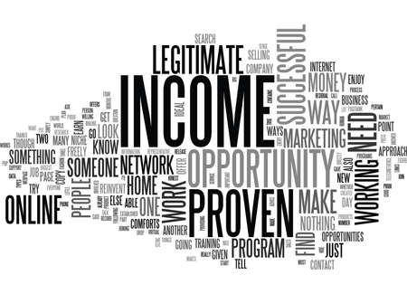 WHY IT IS IMPORTANT TO HAVE A PROVEN INCOME OPPORTUNITY TEXT WORD CLOUD CONCEPT