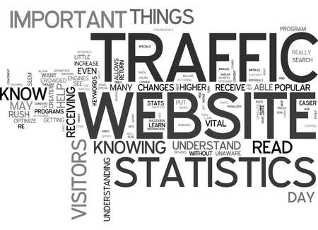 WHY IT IS IMPORTANT TO KNOW HOW TO READ YOUR WEBSITE TRAFFIC STATISTICS TEXT WORD CLOUD CONCEPT