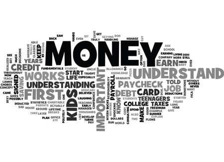 WHY IT IS IMPORTANT TO TEACH YOUR KIDS ABOUT MONEY TEXT WORD CLOUD CONCEPT