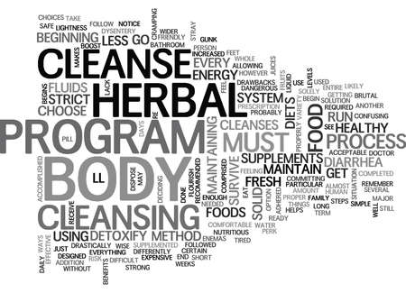 WHEN YOU ARE READY TO DETOXIFY CHOOSE A HERBAL CLEANSE TEXT WORD CLOUD CONCEPT