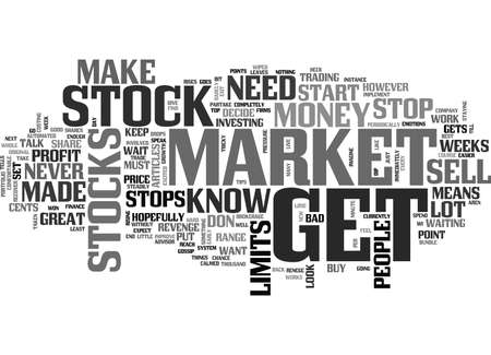 WHEN YOU MUST EXIT IN STOCKS TEXT WORD CLOUD CONCEPT