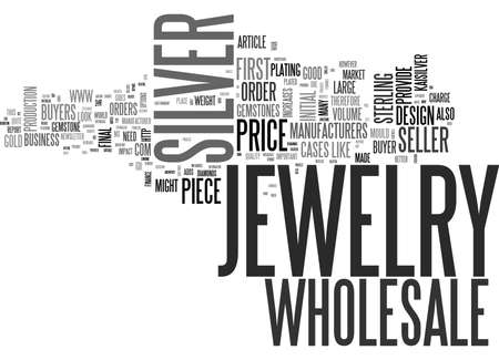 WHOLESALE SILVER JEWELRY TEXT WORD CLOUD CONCEPT