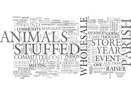 WHOLESALE STUFFED ANIMALS TEXT WORD CLOUD CONCEPT