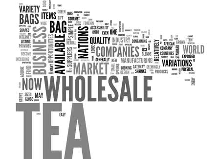 potentially: WHOLESALE TEA A MARKET OF POSSIBILITIES TEXT WORD CLOUD CONCEPT
