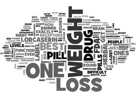 BEST WEIGHT LOSS PILLS TEXT WORD CLOUD CONCEPT Ilustração