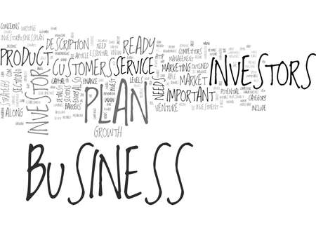 investor: WHAT IS AN INVESTOR READY BUSINESS PLAN TEXT WORD CLOUD CONCEPT