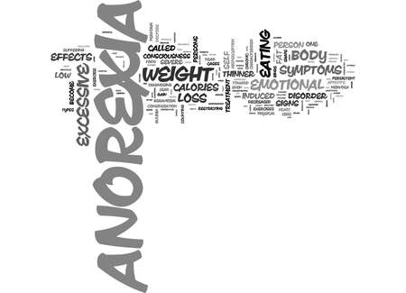 WHAT IS ANOREXIA TEXT WORD CLOUD CONCEPT