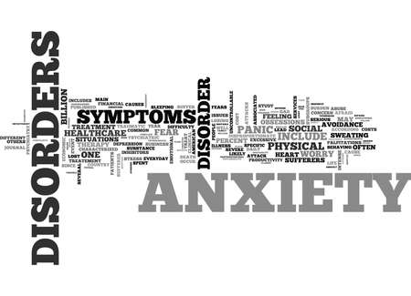 WHAT IS ANXIETY AND HOW TO TREAT IT TEXT WORD CLOUD CONCEPT