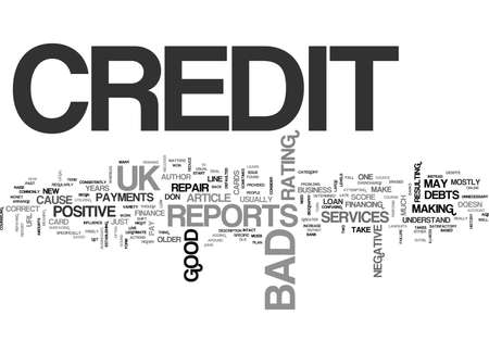 WHAT IS BAD CREDIT UK TEXT WORD CLOUD CONCEPT Stock Vector - 79577606