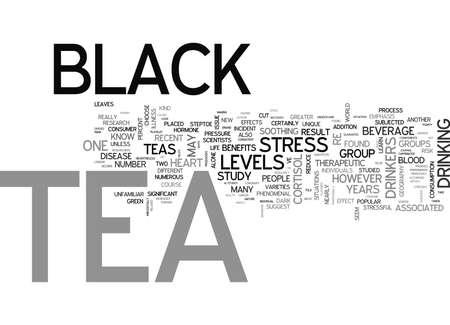WHAT IS BLACK TEA TEXT WORD CLOUD CONCEPT