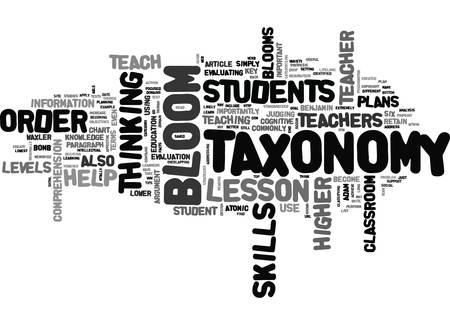 BLOOMS TAXONOMY 텍스트 단어 구름 개념이란 무엇입니까?