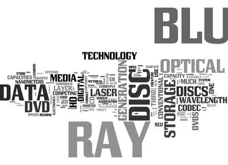 WHAT IS BLU RAY TEXT WORD CLOUD CONCEPT Illustration