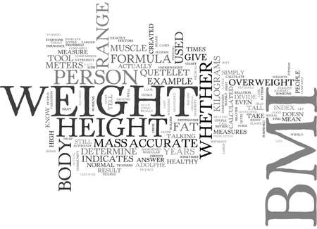 WHAT IS BMI HOW IS BMI CALCULATED TEXT WORD CLOUD CONCEPT