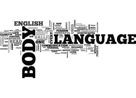 WHAT IS BODY LANGUAGE TEXT WORD CLOUD CONCEPT