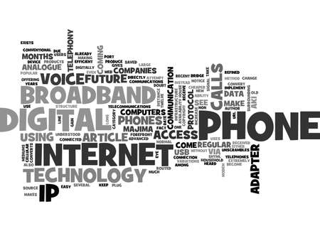 WHAT IS BROADBAND PHONE TEXT WORD CLOUD CONCEPT