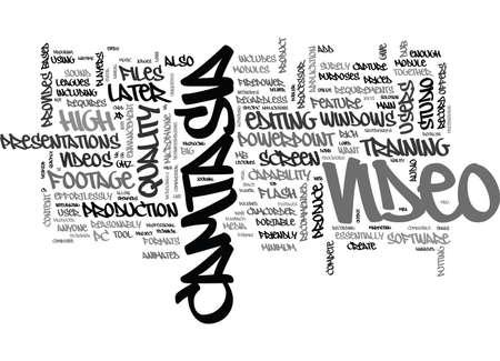 CAMTASIA テキスト WORD クラウド コンセプトは何です。