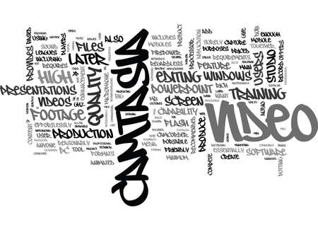 WHAT IS CAMTASIA TEXT WORD CLOUD CONCEPT Illusztráció