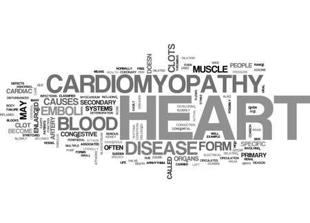 WHAT IS CARDIOMYOPATHY TEXT WORD CLOUD CONCEPT
