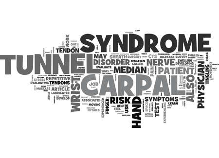WHAT IS CARPAL TUNNEL SYNDROME TEXT WORD CLOUD CONCEPT