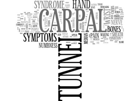 WHAT IS CARPAL TUNNEL TEXT WORD CLOUD CONCEPT