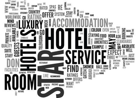 WHAT TO LOOK FOR IN A HOTEL TEXT WORD CLOUD CONCEPT Reklamní fotografie - 79577638