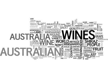 なぜ罰金のオーストラリア ワイン テキスト WORD クラウド コンセプト