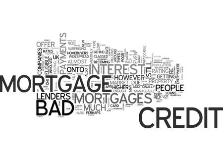 WHY BAD CREDIT DOESN T MEAN NO MORTGAGE TEXT WORD CLOUD CONCEPT