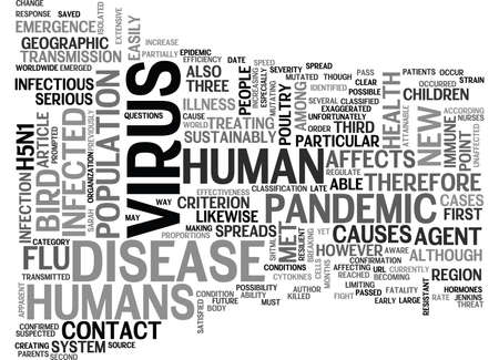 WHY BIRD FLU IS NOT A PANDEMIC TEXT WORD CLOUD CONCEPT Illustration