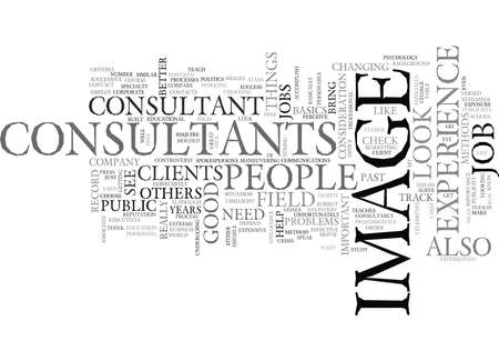 WHAT TO LOOK FOR IN IMAGE CONSULTANTS TEXT WORD CLOUD CONCEPT Illustration