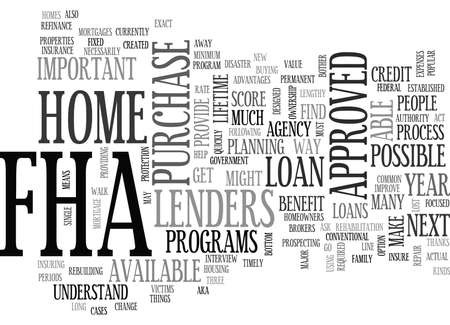 WHY BOTHER WITH FHA TEXT WORD CLOUD CONCEPT Illustration