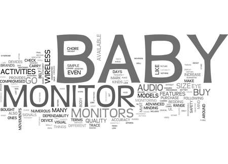 confine: WHAT TO LOOK FOR WHEN YOU BUY A BABY MONITOR TEXT WORD CLOUD CONCEPT