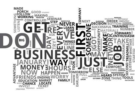 WHY CAN T I GET STARTED TEXT WORD CLOUD CONCEPT