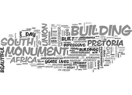 WHAT TO SEE IN PRETORIA GAUTENG TEXT WORD CLOUD CONCEPT Stok Fotoğraf - 79577771