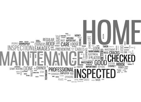 WHY CARE ABOUT HOME MAINTENANCE TEXT WORD CLOUD CONCEPT Illustration