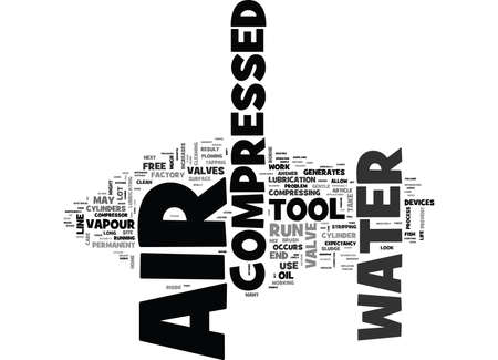 WHY CARE IF THERE IS WATER IN YOUR COMPRESSED AIR TEXT WORD CLOUD CONCEPT