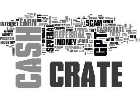 WHY CASH CRATE IS THE BEST GPT SITE IN THE INDUSTRY TEXT WORD CLOUD CONCEPT Ilustrace