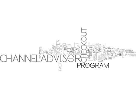 WHY CHANNELADVISOR MAY BE FOR YOU TEXT WORD CLOUD CONCEPT
